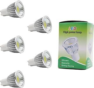 5X GU10 Bombillas LED 5W Iluminación Bombillas COB Blanco Frío Lámpara LED 6500K Super Brillante LED de Bombillas Sustitución de la Incandescente AC85-265V
