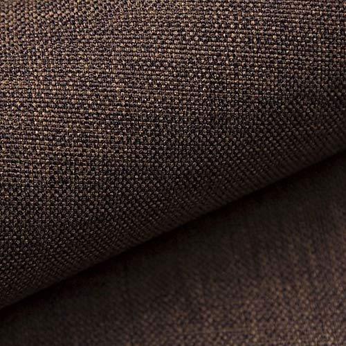 NOVELY® LUSO | 1 lfm | Feiner Stoff Polsterstoff Bezugsstoff Meterware Möbelstoff (12 Braun)