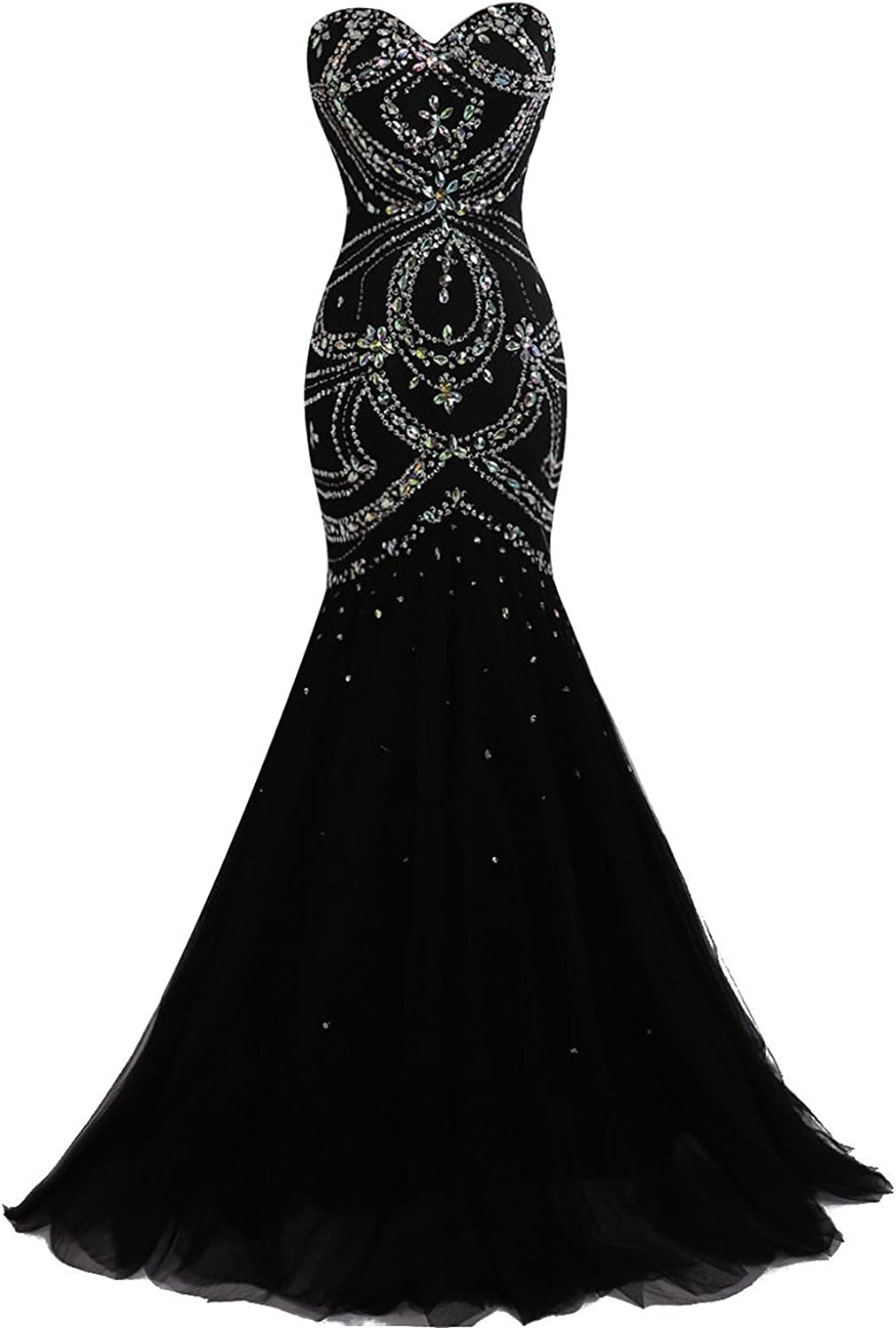 XSWPL Sweetheart Beaded Evening Prom Dress Mermaid Formal Gown