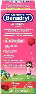 Benadryl Children's Allergy Liquid with Diphenhydramine HCl in Kid-Friendly Cherry Flavor, 4 fl. oz