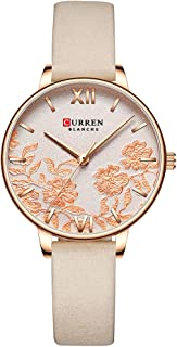 9065 Elegant Exquisite Casual Business Quartz Women Watch Sakura Flower Embossed Ultra Thin Slim Simple Wrist Watch 3ATM W...