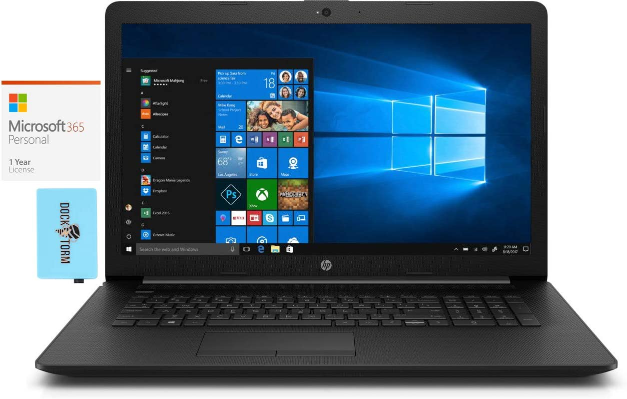 HP 17t-by400 Max 40% OFF Home Business Laptop 8GB 4-Core i7-1165G7 Deluxe Intel