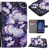 YKTO Coque Samsung Galaxy J5 J500 Case 2015 5.0 Pouces PU Cuir Portefeuille Etui Magnétique...