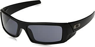 Oakley Men's Gascan Rectangular Sunglasses, Matte Black /Grey, 60mm