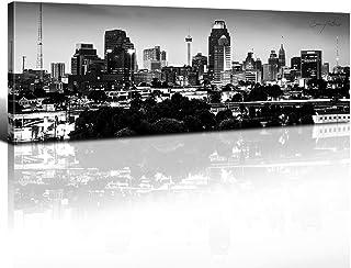 sunfrower – San Antonio Skyline Decor Wall Art USA Canvas Prints Panoramic..