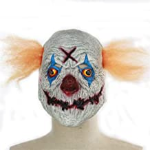 SHENTIANWEI Variation of Terror Mouth Sewn Clowns Halloween Party Props Hedging Ghost mask (Color : Gray)