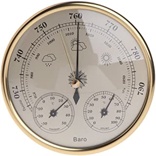Fucung 3 in 1 Wall Mounted Household Barometers Thermometer Hygrometer, High Accuracy Pressure Gauge Air Weather Instrument