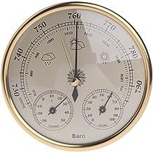 Cuigu THB9392-Analog - Termómetro, 3 en 1, pared colgante, barómetro, termómetro, higrómetro
