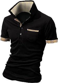 BUZZ WEAR [バズ ウェア] メンズ ポロシャツ poloシャツ 半袖 チェック スキッパー スポーツ ゴルフ ゴルフウェア 春 夏