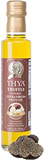 THYA Truffle Flavored Extra Virgin Olive Oil Cold Pressed Olives EVOO for Salad Dressing and Cooking (8.45 fl oz/ 250ml)