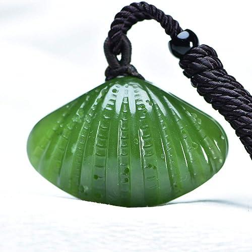 Tienda 2018 WOkismx Collar De Concha, Modelos para hombres Y mujeres, mujeres, mujeres, Colgante De Jade, Moda, Cadena De Clavícula Salvaje, Personalidad De La Joyería Y Regalo verde Natural De Tian Yu  wholesape barato