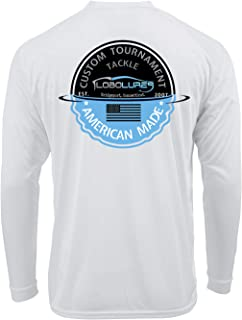 Lobo Lures Tournament Fishing Long Sleeve Shirt for Men and Women UPF 50 Dri-Fit Performance Rashguard T-Shirt