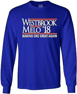 The Silo Long Sleeve Blue Oklahoma City Westbrook Melo Westbrook 18