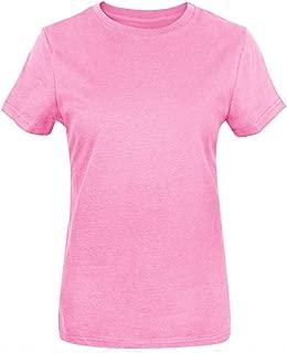 Funny World Women's Heavyweight Thick Cotton Basic Soft T-Shirts