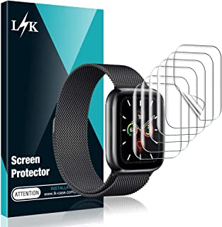 [6 Pack] L K Screen Protector for Apple Watch Series 5 44mm, [Full Coverage] [Self Healing] Anti-Bubble for iWatch 5 Flexible TPU HD Clear Film, Lifetime Replacement Warranty