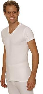 Octave 3 Pack Mens Thermal Underwear Short Sleeve 'V'-Neck T-Shirt/Vest/Top
