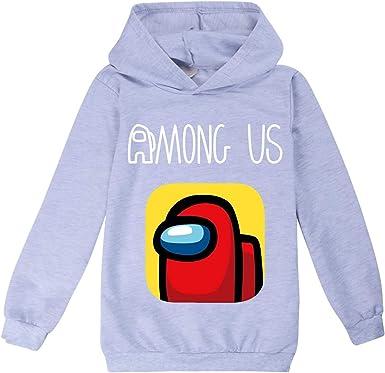 Among Us Crewmate Game Hoodie Merch for Kids Tops /& Baseball Cap Suits Boys Girls Sweatshirt /& Hat Set Long Sleeve Jumper Hooded Pullover Streetwear Unisex Teens