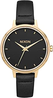 NIXON Medium Kensington Leather A1261-50m Water Resistant Women's Analog Classic Watch (32mm Watch Face, 12mm Leather Band)