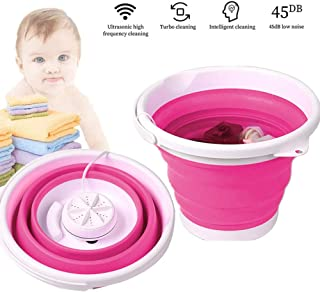 Tenflyer Mini Washing Machine Folding Laundry Tub Basin Portable Automatic Clothes Washing Bucket Basic Personal Washer Convenient for Travel Camping Apartments Dorms Business Trip
