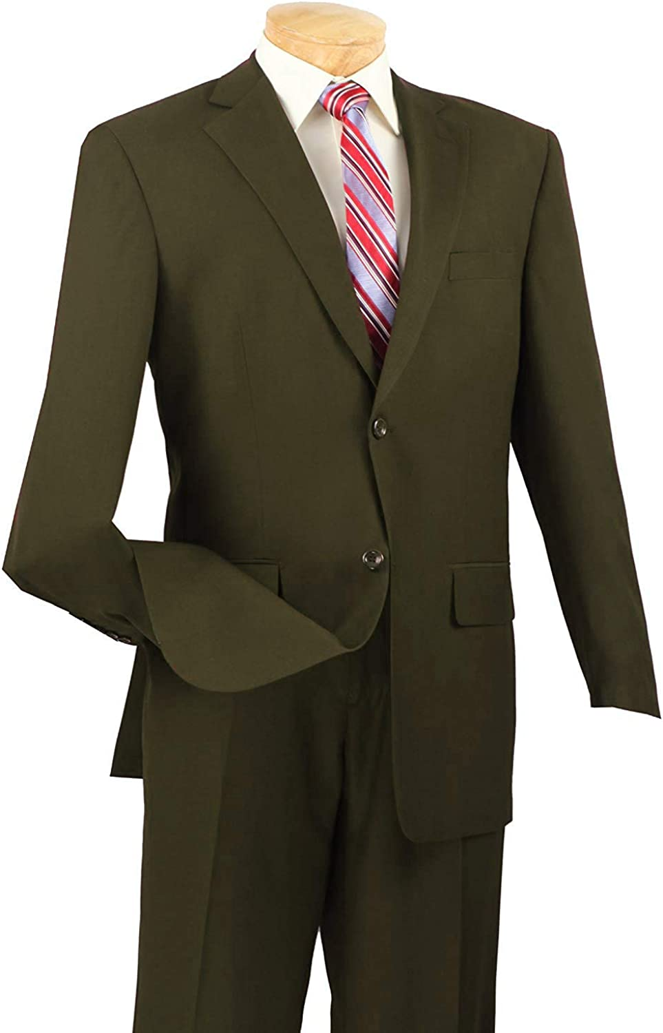 Vittorio St. Angelo Men's 2 Button Single Breasted Dress Suit A72TE