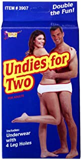 Forum Novelties 3907 Undies for Two, Fun Fundie Underwear Panties for Halloween Parties & Holidays, One Size, White