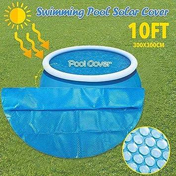 monocromo resistente a los rayos UV 122 * 120 cm /· /· Cubierta para piscina rectangular//redonda l/ámina de aislamiento de polietileno para piscina a la humedad resistente al polvo