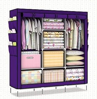 CXVBVNGHDF Armoire Armoires en Tissu Armoire pour Enfants avec 4 tringles à vêtements, 8 étagères, 9 Poches latérales pour...