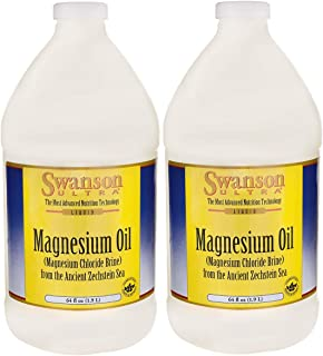 Swanson Magnesium Oil Spray Zechstein Magnesium Soothes Muscles Nourishes Skin Stress Relief Sleep Rapid Absorption Dr. Ba...