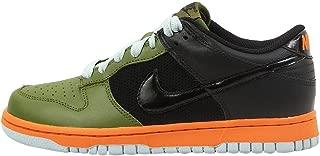 Nike WMNS Dunk Low Green Black Grey Orange Women's Shoes 317813-301 (8.5)