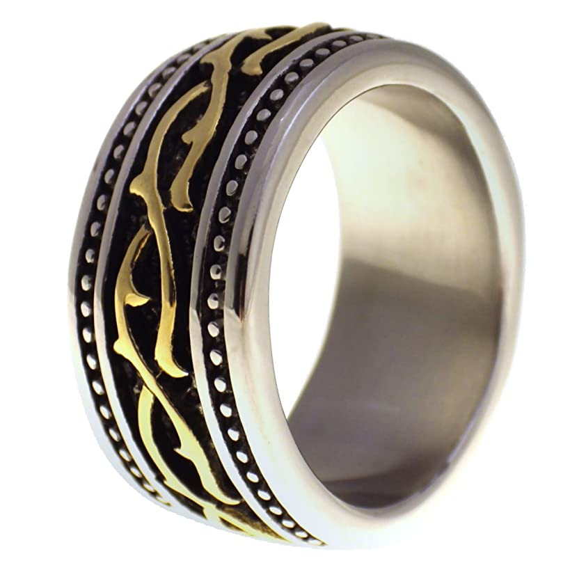 Fantasy Forge Jewelry Country Wedding Ring Western Barb Wire Band Size 5-16