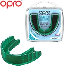 OPRO Snap-Fit Mouthguard | Gum Shield for Hockey, Rugby, and Other Contact Sports - No Boiling or Fitting Required -18 Month Dental Warranty (Adult and Youth Sizes)