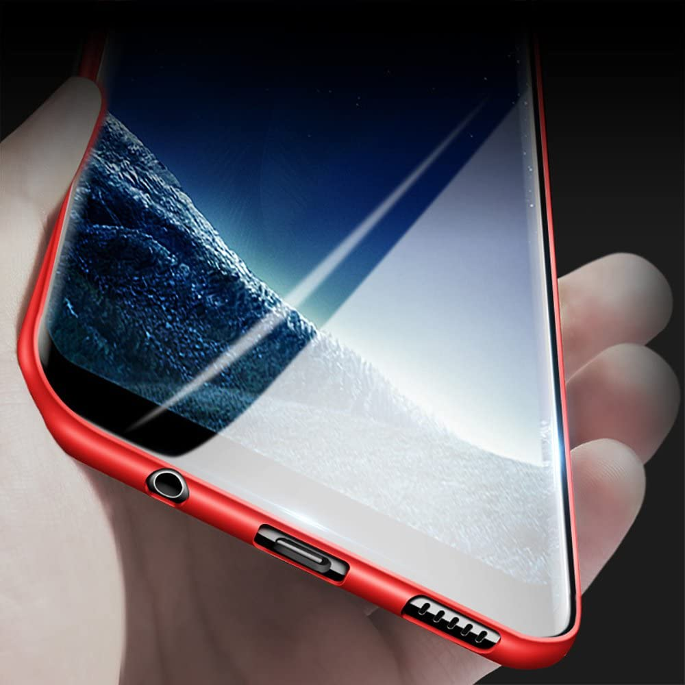 X-level Samsung Galaxy S8 Case, Slim Fit Soft TPU Ultra Thin S8 Mobile Phone Cover Matte Finish Coating Grip Phone Case for Women Compatible Samsung Galaxy S8
