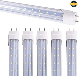 15 Pack Led T8 V Shaped 6FT 40W Tube Light with G13 Base ETL Listed Ballast Bypass Indoor 6 Foot Under Cabinet Lamp White Daylight 6000k Double End Powered Input Commercial Household Lighting
