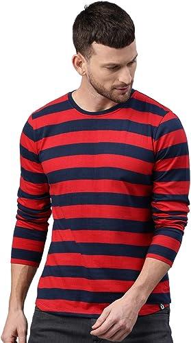 Men s Cotton Striped Full Sleeve T Shirt