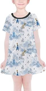 Rainbow Rules Winter Landscape Frozen 2 Disney Inspired Girls T-Shirt Dress