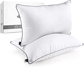 HOKEKI Bed Pillows for Sleeping, Queen Size (20X30) Set of 2 with Luxury Hotel Collection Quality, Down Alternative Gel Fl...