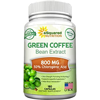 Amazon Com 100 Pure Green Coffee Bean Extract 180 Capsules Max Strength Natural Gca Antioxidant Cleanse For Weight Loss 800mg W 50 Chlorogenic Acid Per Pill 1600mg Daily Supplement Healthy Fat