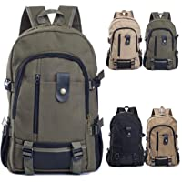 Weardear Travel Mountaineering Canvas Student Men's Backpack (Army Green)