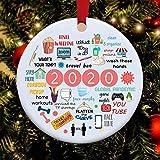 FLYEER 2020 - Ornamento di Natale in quarantena a Year to Remember da appendere, ideale come regalo per amici sopravvivere, idea regalo per albero di Natale