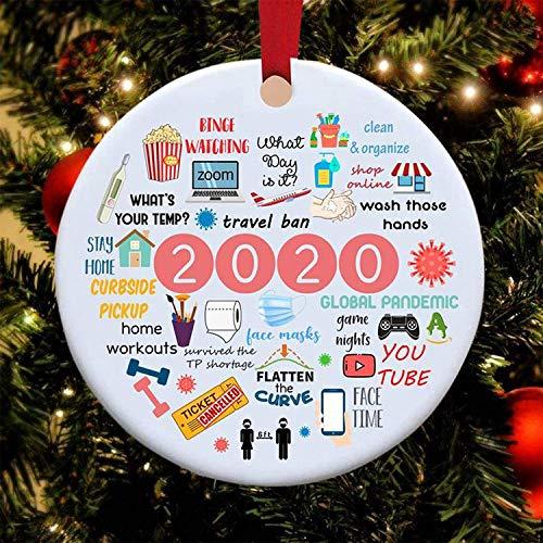 FLYEER 2020 - Ornamento di Natale in quarantena a Year to Remember da appendere, ideale come regalo...