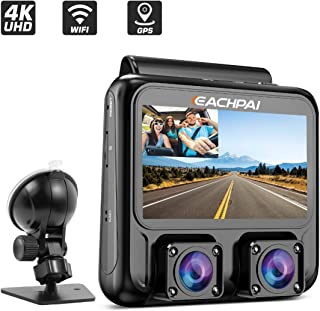 Dash Cam 4K, EACHPAI X100 Plus Dual Dash Camera Single 4K Front/Dual 1080P,3'' Car Camera Dash Cam for Cars with WI-FI, GPS,IR Night Vision,Parking Mode,G-Sensor,Motion Detector,Loop Recording,WDR,