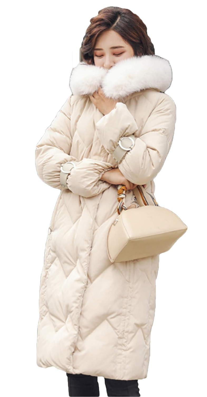 [サ二ー] レディース 秋冬 ダウンジャケット 中綿コート ダウンコート 厚手 大きいサイズ ロング丈 中綿アウター エレガント ゆったり ビジネス フード付き スプリング ファッション フェイクファー