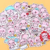 BLOUR 40pcs Creative Kawaii Selbstgemachte Pink Toot Pig Aufkleber/Schöne Aufkleber/Dekorative...