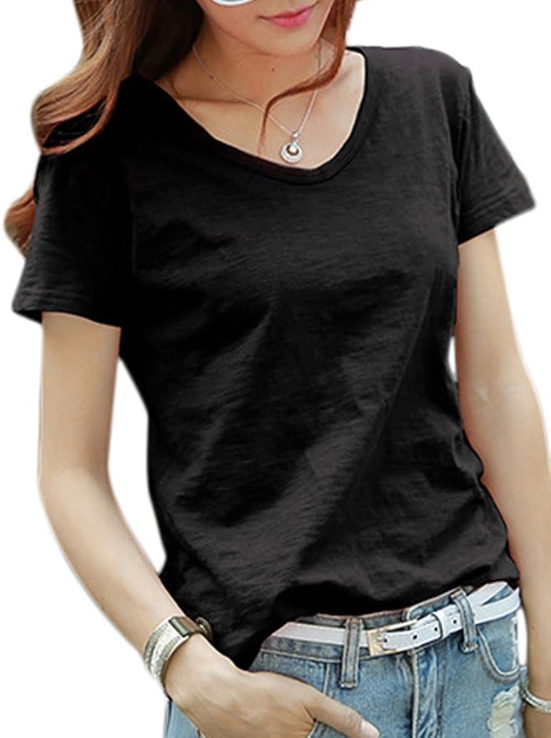 イソギンチャク和らげる合金[ユーミート] レディース Tシャツ カットソー ロング 半袖5カラー