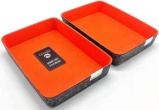 $24 » Welaxy Office Supplies Drawer Organizers Trays Storage Bins Drawers dividers Storage Bins (Orange x 2)