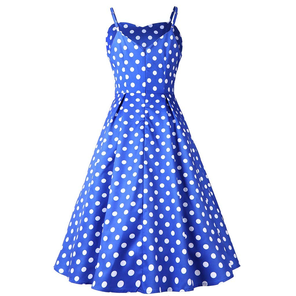 Available at Amazon: Women Spaghetti Strap Party Cocktail Dresses Polka Dot Audrey Hepburn Vintage Style Rockabilly Swing Dress by Lowprofile