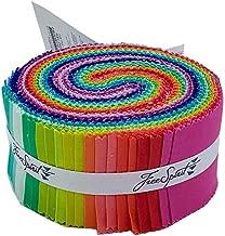 Tula Pink Designer Solids Design Roll 40 2.5-inch Strips Jelly Roll Free Spirit