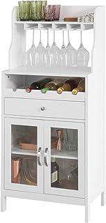 SoBuy FSB24-W Aparador Cocina Mueble Auxiliar organizador 56 x 35 x 128 cm ES