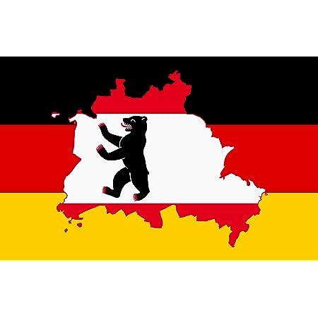 Etaia 5 4x8 4 Cm Auto Aufkleber Fahne Flagge Berlin Berliner Bär Auf Deutschlandfahne Sticker Motorrad Bike Auto