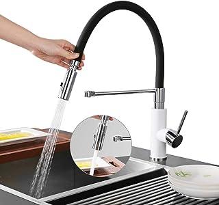 comprar comparacion DESFAU 2 funciones Grifo de cocina extraíble 360° Giratorio Grifo de Fregadero Monomando de Fregadero Grifería cocina Agua...